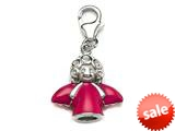 Pink Enamel Angel Charm for Charm Braclelet or Smartphone using our Smartphone Plug style: BPP1721