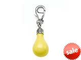 Yellow Enamel Lightbulb Charm for Charm Braclelet or Smartphone using our Smartphone Plug style: BPP1857