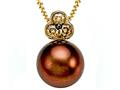 Carlo Viani® South Sea Brown Cultured  Pearl Pendant with Brown Diamonds