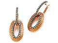 Carlo Viani Brown Diamonds Earrings in Rose Gold