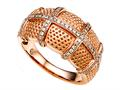 Carlo Viani® Ring / Band in Rose Gold with Round Diamonds