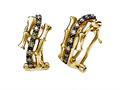 Carlo Viani®  14 kt Yellow Gold Bamboo Earrings