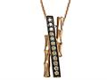 Carlo Viani Smokey Quartz Bamboo Pendant