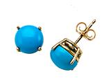 Carlo Viani® 8mm Blue Turquoise Earrings