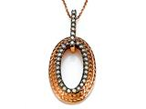 Carlo Viani® Brown Diamonds Pendant in Rose Gold