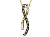 Carlo Viani® Brown Diamonds Bamboo Pendant style: C102-0370
