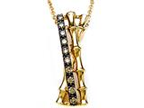 Carlo Viani® Brown Diamonds Bamboo Pendant style: C102-0376