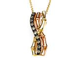 Carlo Viani® Brown Diamonds Bamboo Pendant style: C102-0380