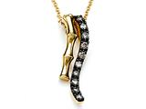 Carlo Viani® Brown Diamonds Bamboo Pendant style: C102-0384