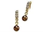 Carlo Viani South Sea Brown Cultured Pearl Earrings Style number: C102-0112