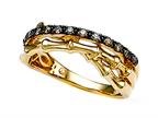 Carlo Viani Smokey Quartz Bamboo Ring Style number: C103-0336