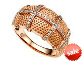 Carlo Viani® Ring / Band in Rose Gold with Round Diamonds style: C102-0277