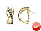 Carlo Viani® Brown Diamonds Bamboo Earrings style: C102-0369