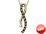 Carlo Viani® Smokey Quartz Bamboo Pendant style: C103-0333