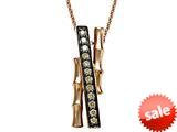 Carlo Viani® Smokey Quartz Bamboo Pendant style: C103-0335