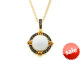 Carlo Viani® White Abalone Pendant style: C103-0346