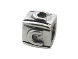 Zable™ Sterling Silver Block C-Letter Bead / Charm style: BZ0103