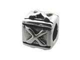 Zable™ Sterling Silver Block X-Letter Bead / Charm style: BZ0124