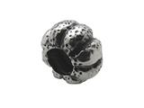 Zable Sterling Silver Pumpkin Bead / Charm