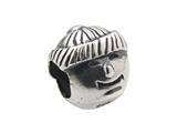 Zable™ Sterling Silver Boy Face Bead / Charm