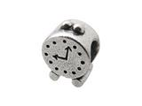 Zable™ Sterling Silver Alarm Clock Bead / Charm style: BZ0285