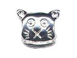 Zable™ Sterling Silver Cat Face Bead / Charm