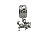 Zable Sterling Silver Chinese Zodiac-Horse Bead / Charm
