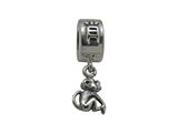 Zable™ Sterling Silver Chinese Zodiac-Monkey Bead / Charm
