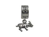 Zable™ Sterling Silver Chinese Zodiac-Ox Bead / Charm