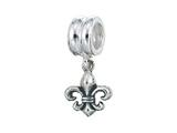 Zable Sterling Silver Dangle Fleur De Lis Bead / Charm