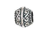 Zable™ Sterling Silver Filigree Spacer Bead / Charm