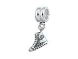 Zable™ Sterling Silver Dangle Sneaker Bead / Charm
