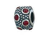 Zable™ Sterling Silver January Crystal Ball Bead / Charm