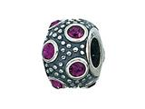 Zable™ Sterling Silver February Crystal Ball Bead / Charm