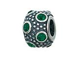 Zable™ Sterling Silver May Crystal Ball Bead / Charm
