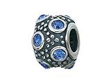 Zable™ Sterling Silver September Crystal Ball Bead / Charm