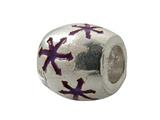 Zable™ Sterling Silver Purple Enamel Stars Bead / Charm