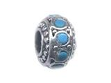Zable™ Sterling Silver Turquoise Spacer Bead / Charm