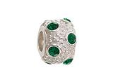 Zable™ Sterling Silver May Crystal Ball Non-oxidized Pandora Compatible Bead / Charm