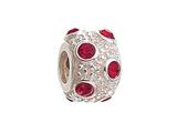 Zable™ Sterling Silver July Crystal Ball Non-oxidized Pandora Compatible Bead / Charm style: BZ1044