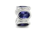 Zable™ Sterling Silver Bezel Set Ovals September Pandora Compatible Bead / Charm