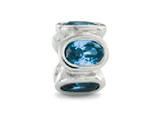Zable™ Sterling Silver Bezel Set Ovals December Pandora Compatible Bead / Charm style: BZ1132