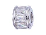 Zable Sterling Silver Baquette CZ`s Pandora Compatible Bead / Charm