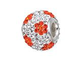 Zable Sterling Silver Orange Flower Pandora Compatible Bead / Charm