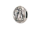 Zable™ Sterling Silver Bride and Groom Pandora Compatible Bead / Charm style: BZ1711