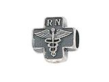 Zable™ Sterling Silver Cross with Caduceus and RN Pandora Compatible Bead / Charm