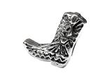 Zable™ Sterling Silver Cowboy Boot Pandora Compatible Bead / Charm style: BZ1754