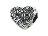 Zable™ Sterling Silver Grandmother Pandora Compatible Bead / Charm