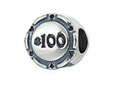 Zable™ Sterling Silver Poker Chip Bead / Charm style: BZ2067
