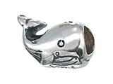 Zable Sterling Silver Whale Bead / Charm